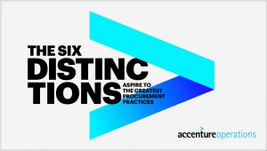 Accenture's Six Distinctions of Great Procurement