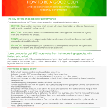 4 drivers of good client performance