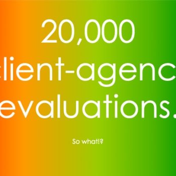 20,000 client-agency relationships